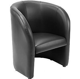 Dream Black  Leather Faced Tub Chair £169 - Reception Furniture