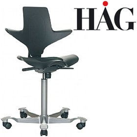 HAG Capisco Puls 8010 Chair Black £273 - Office Chairs
