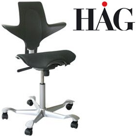 HAG Capisco Puls 8020 Chair Black £324 - Office Chairs