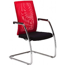 SIT.NET Mesh Back Cantilever Visitor Chair £265 - Office Chairs