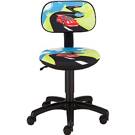 Cartoon Line Childrens Racing Operator Chair £0 - Education Furniture