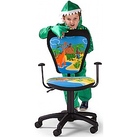 Cartoon Line Childrens Ministyle Dinosaur Operator Chair £0 - Education Furniture