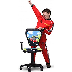 Cartoon Line Childrens Ministyle Racing Operator Chair £59 - Education Furniture