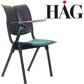 HAG Conventio Wing Chair 9821 With Writing Tablet £226 - Office Chairs