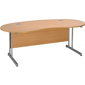 Modus Contract Cantilever Kidney Desk £298 - Office Desks