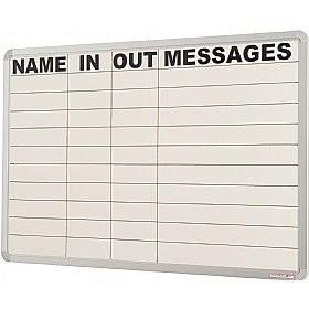 In/Out Marked Non-Magnetic Writing Board £63 - Display/Presentation