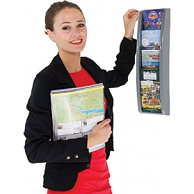 1/3 A4 Four Pocket Wall Mounted Leaflet Dispenser £40 - Display/Presentation
