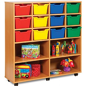 16 Cubby Tray Combination Storage £0 - Education Furniture