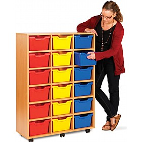 18 Cubby Tray Storage £239 - Education Furniture