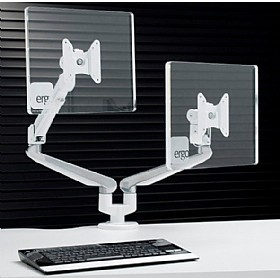 Ascend Gas Assisted Dual Monitor Mount £291 - Office Furnishings