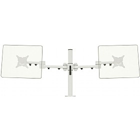 Stream Plus Dual Monitor Mount With Through Desk Fixing £0 - Office Furnishings