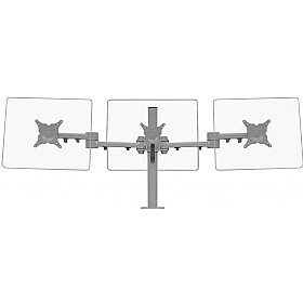 Stream Plus Triple Monitor Mount With Through Desk Fixing £0 - Office Furnishings