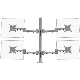 Stream Plus Quad Monitor Mount With Through Desk Fixing £0 - Office Furnishings