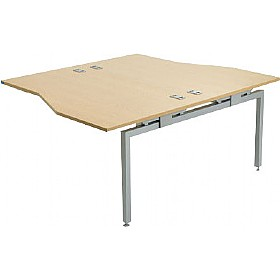 Linear Double Compact Wave Add-On Bench Desk £381 - Office Desks
