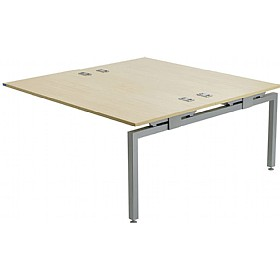 Linear Double 1200 Rectangular Add-On Bench Desk £326 - Office Desks