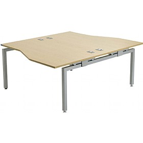 Linear Double Starter Wave Bench Desk £475 - Office Desks