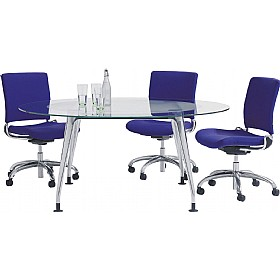 DNA Round Glass Meeting Table £1878 - Meeting Room Furniture