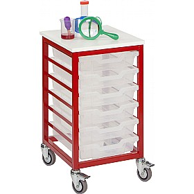 Mobile Single Column 6 Tray Trolley £142 - Education Furniture