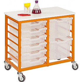 Mobile Double Column 12 Tray Trolley £0 - Education Furniture