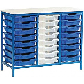 Static Triple Column 24 Tray Storage Unit £0 - Education Furniture