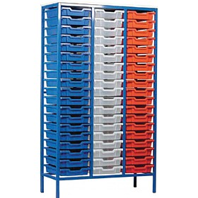 Static Triple Column 57 Tray Storage Unit £483 - Education Furniture