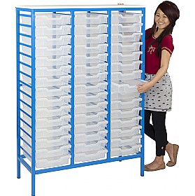 Static Triple Column 45 Tray Storage Unit £398 - Education Furniture