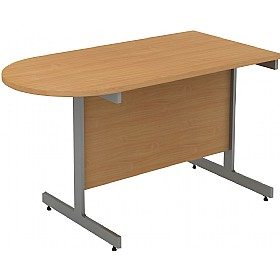 Alpha Plus D-End Meeting Table £244 - Office Desks