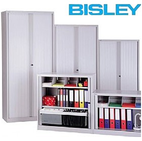 NEXT DAY Bisley Tambour Cupboards £408 - Office Cupboards
