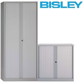 Bisley Side Opening Tambour Cupboards £385 - Office Cupboards