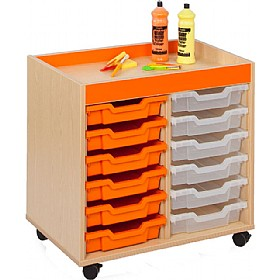 Bubblegum 12 Tray Shallow Storage £0 - Education Furniture