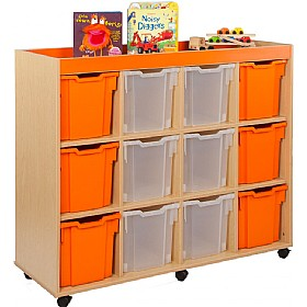 Bubblegum 12 Jumbo Tray Storage Unit £0 - Education Furniture