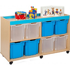 Bubblegum 8 Jumbo Tray Storage Unit £0 - Education Furniture