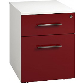 Reflections Burgundy Low Mobile Pedestals £160 - Office Storage