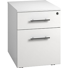 Reflections White Low Mobile Pedestals £160 - Office Storage