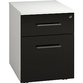 Reflections Black Low Mobile Pedestals £160 - Office Storage