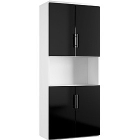 Reflections Black Twin Double Door Combination Cupboard £497 - Office Storage