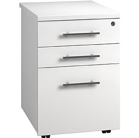 Reflections White Tall Mobile Pedestal £180 - Office Storage