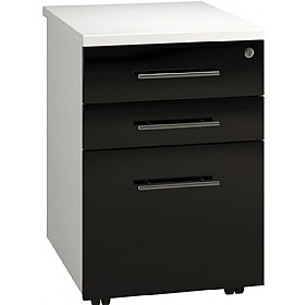 Reflections Black Tall Mobile Pedestal £180 - Office Storage