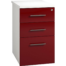 Reflections Burgundy Desk High Pedestals £180 - Office Storage