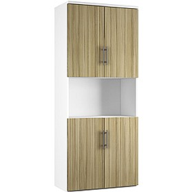 Reflections Light Olive Twin Double Door Combination Cupboard £498 - Office Storage
