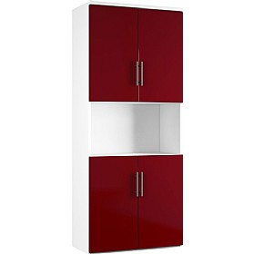 Reflections Burgundy Twin Double Door Combination Cupboard £498 - Office Storage