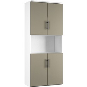 Reflections Stone Grey Twin Double Door Combination Cupboard £497 - Office Storage