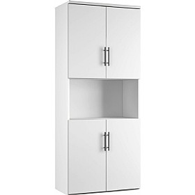 Reflections White Twin Double Door Combination Cupboard £497 - Office Storage