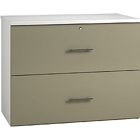 Reflections Stone Grey Side Filing Cabinets £316 - Office Storage