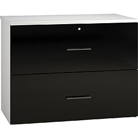 Reflections Black Side Filing Cabinets £316 - Office Storage