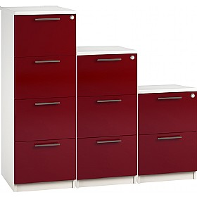 Reflections Burgundy Filing Cabinets £198 - Office Storage