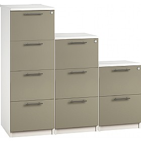 Reflections Stone Grey Filing Cabinets £198 - Office Storage