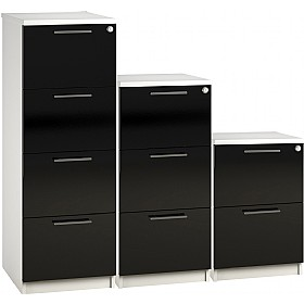 Reflections Black Filing Cabinets £198 - Office Storage
