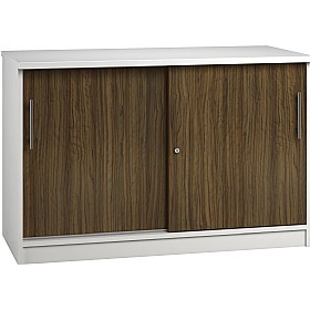 Reflections Dark Olive Credenza Sliding Door Cupboards £341 - Office Storage