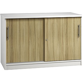 Reflections Light Olive Credenza Sliding Door Cupboards £341 - Office Storage